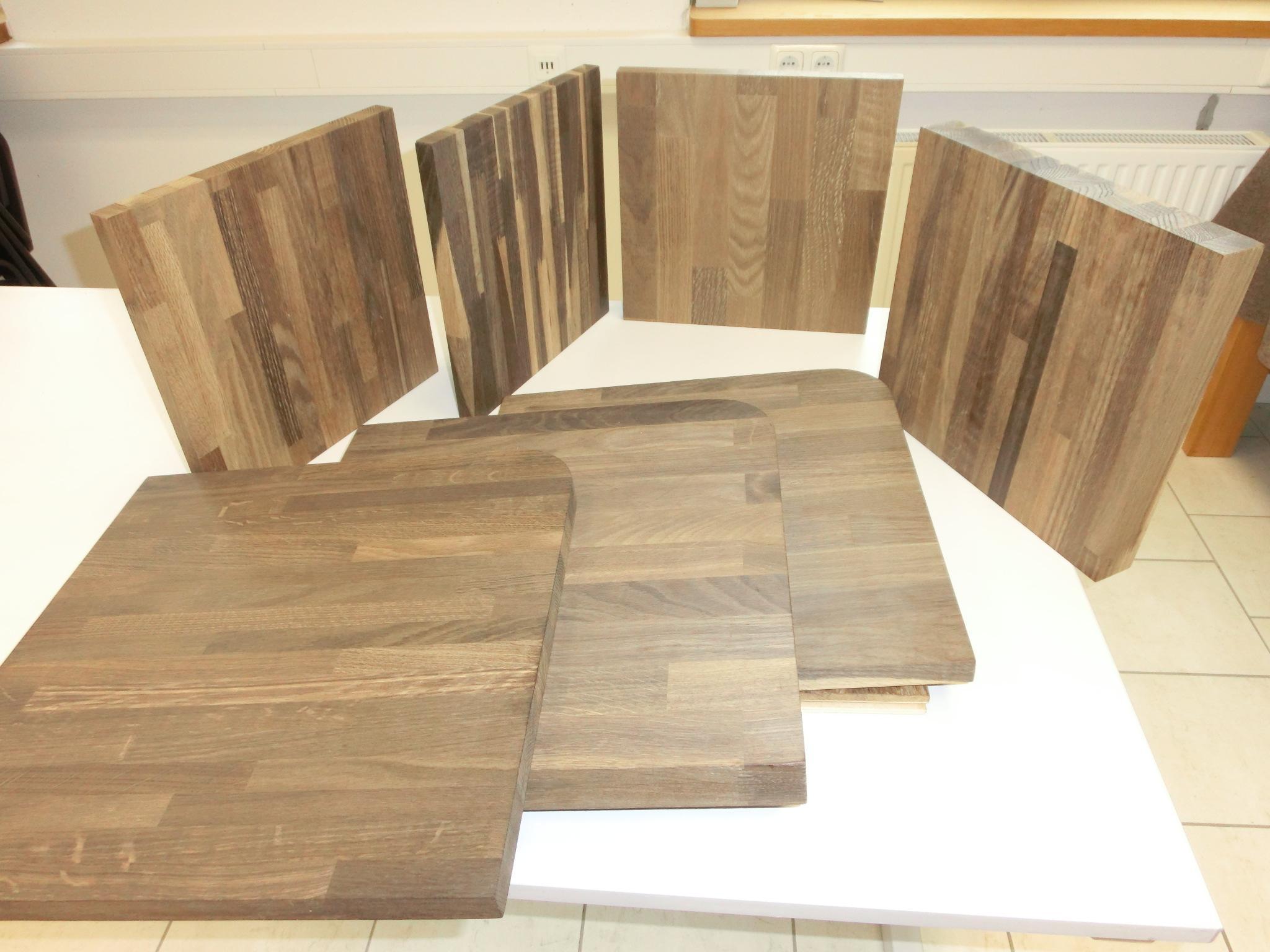 leimholzplatte eiche ger uchert 40 42 mm. Black Bedroom Furniture Sets. Home Design Ideas